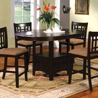 Furniture of America Toureille 5-piece Expandable Round/Oval Counter Height Set