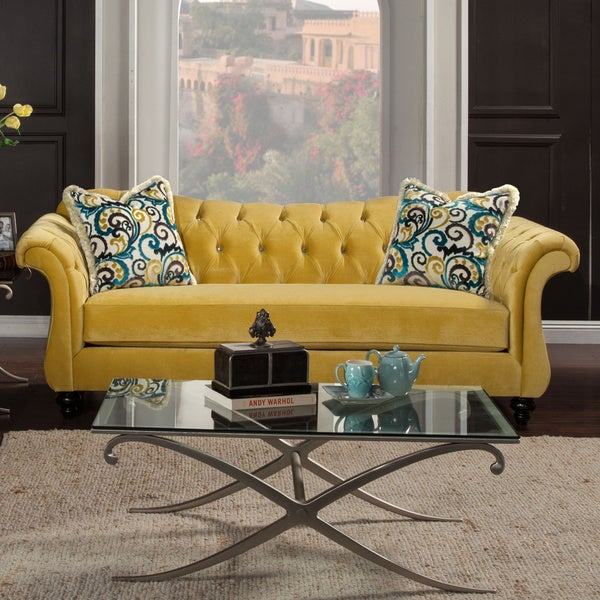 Sofas And Couches On Sale: Shop Furniture Of America Agatha Traditional Tufted Sofa