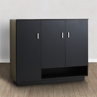 Furniture of America Ryanthe Black Multi-Functional Cabinet