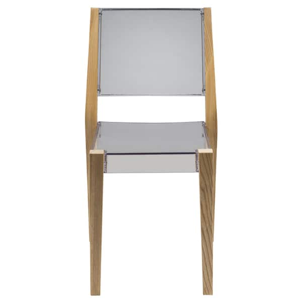 Cool Shop Leisuremod Barker Clear Lucite Dining Chair With Wooden Uwap Interior Chair Design Uwaporg