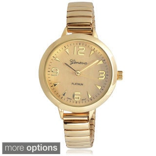 Geneva Platinum Women's Stainless Steel Stretch Watch