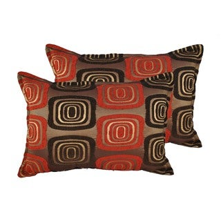 Sherry Kline Retro Red Boudoir Throw Pillows (Set of 2)