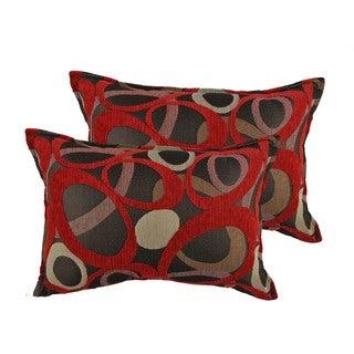 Sherry Kline Oh Red Boudoir Throw Pillows (Set of 2)