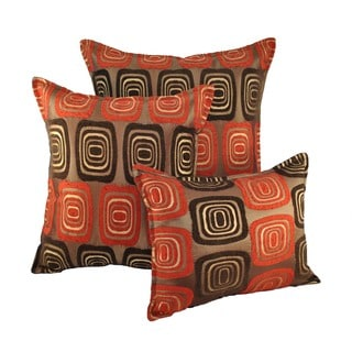 Sherry Kline Retro Red Combo Throw Pillows (Set of 3)