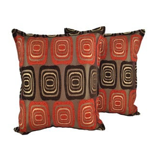 Sherry Kline Retro Red 20-inchThrow Pillows (Set of 2)