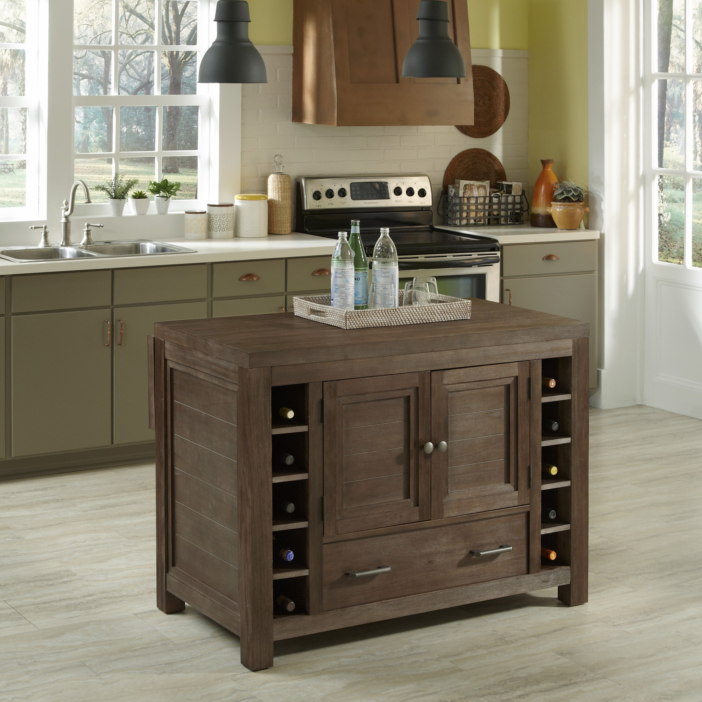 Rustic Kitchen Island For Sale: Shop The Gray Barn Firebranch Rustic Wood Kitchen Island