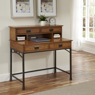 Modern Craftsman Student Desk and Hutch by Home Styles