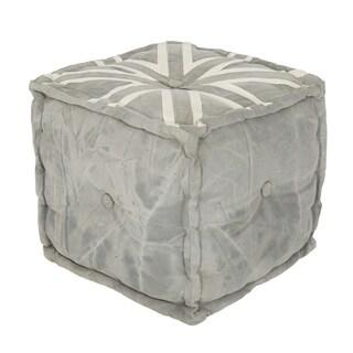 Handy Living Linder Union Jack Pouf Cube Ottoman Free