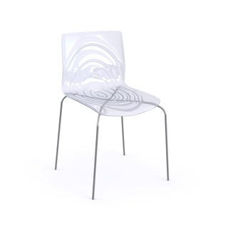 LeisureMod Astor Polycarbonate Modern Transparent Clear Dining Chair
