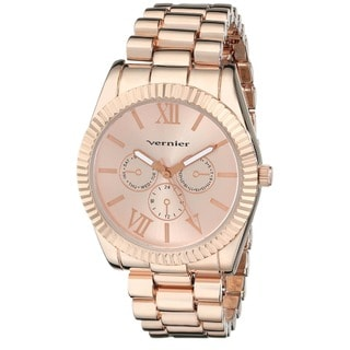 Vernier Women's Rose Goldtone Mid-size Status Watch