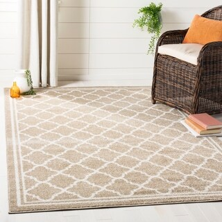 "Safavieh Indoor/ Outdoor Amherst Dark Grey/ Beige Rug - 2'3"" x 7'"