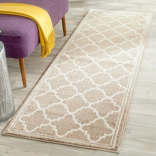 Safavieh Indoor/ Outdoor Amherst Wheat/ Beige Rug - 2'3 x 7'