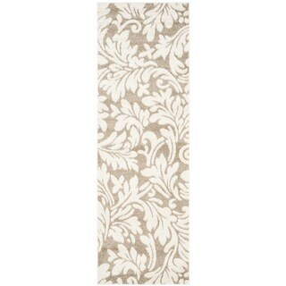 Safavieh Indoor/ Outdoor Amherst Wheat/ Beige Rug - 2'3 x 11'