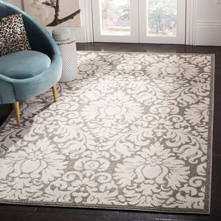 Safavieh Indoor/ Outdoor Amherst Dark Grey/ Beige Rug (2'3 x 11')