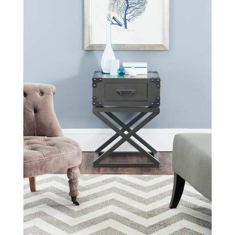 "Safavieh Dunstan Grey Accent Table - 18.9"" x 15"" x 25.6"" - 18.9"" x 15"" x 25.6"""