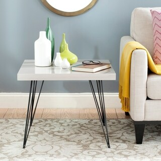 Safavieh Wynton Taupe Black Lacquer End Table 16245681