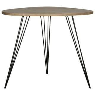 Safavieh Mid-Century Wynton Oak Finish/ Black Modern End Table