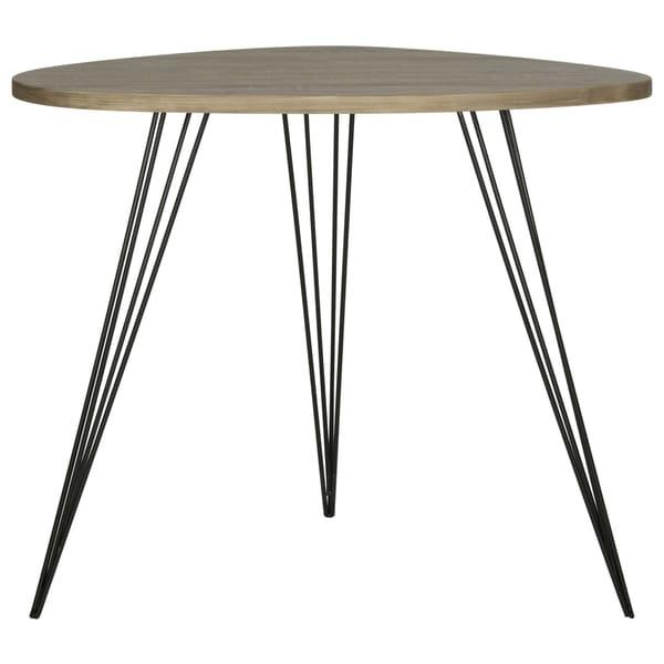 Safavieh Mid Century Wynton Oak Finish/ Black Modern End Table