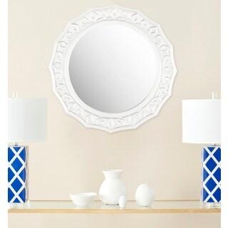 Safavieh Gossamer Lace White 25-inch Round Mirror