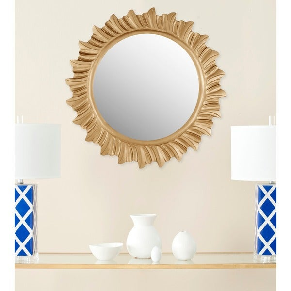 "Safavieh By The Sea Gold Sunburst 29-inch Round Decorative Mirror - 29"" x 29"" x 0.8"""
