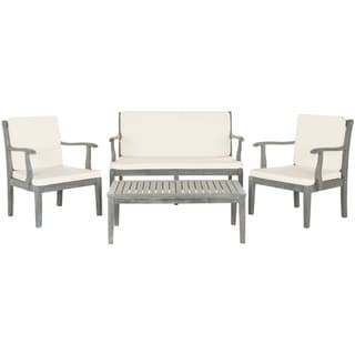 Shop Safavieh Outdoor Living Montclair Ash Grey Acacia ... on Safavieh Outdoor Living Montez 4 Piece Set id=94639