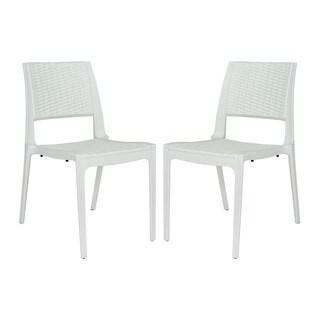 LeisureMod Elm Modern Indoor/ Outdoor Dining Chair (Set of 2)