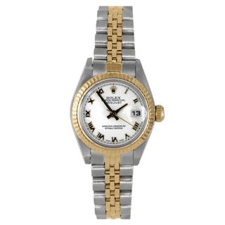 Pre-Owned Rolex Women's Datejust White Dial Two-tone Bracelet Watch