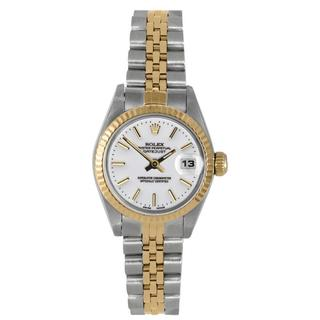 Pre-Owned Rolex Women's Two-tone Datejust White Dial Bracelet Watch