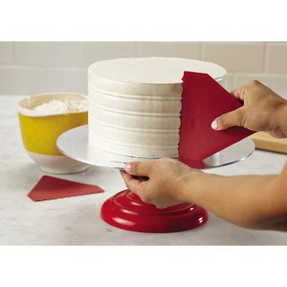 Cake Boss Decorating Tools 2-piece Red Plastic Icing Comb Set