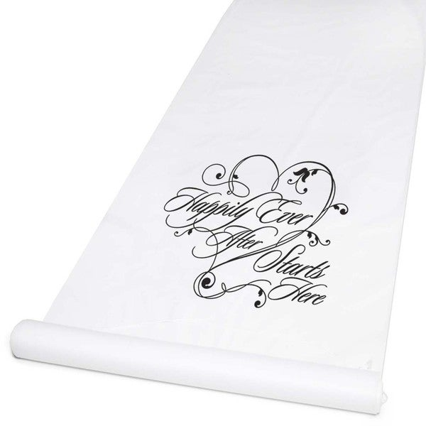 Happily Ever After White Aisle Runner