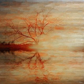 Parvez Taj 'Red Leafs' Fine Art Print