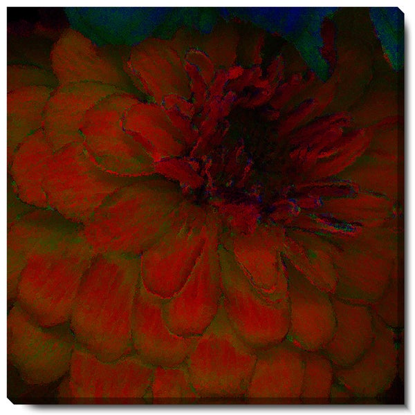Studio Works Modern 'Red Dahlia' Fine Art Gallery Wrapped Canvas