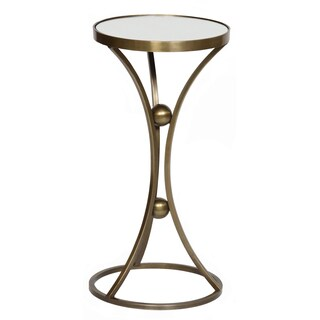 Hourglass Mirrored End Table