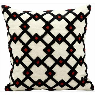 kathy ireland Black Diamonds Ivory Throw Pillow (18-inch x 18-inch) by Nourison