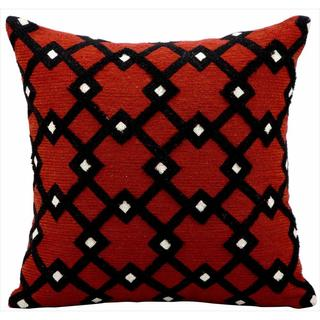 kathy ireland Black Diamonds Rust Throw Pillow (18-inch x 18-inch) by Nourison