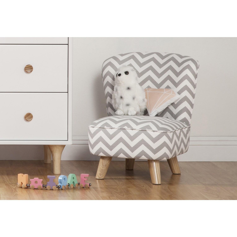 Babyletto Pop Mini Chair (monochrome mod), Black (Cotton)