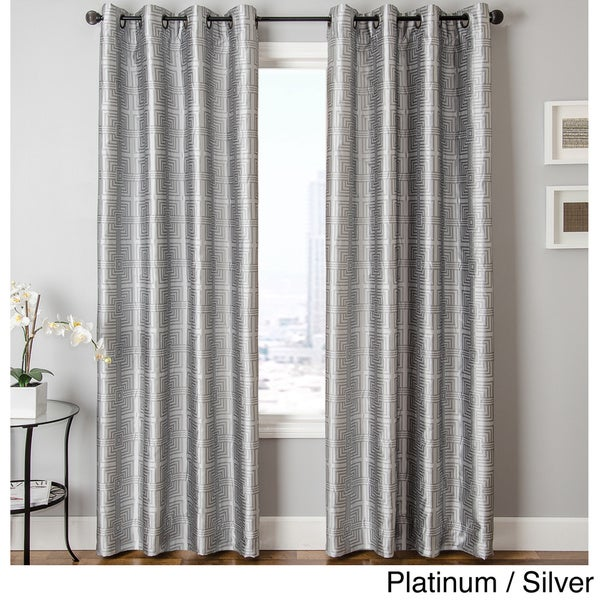 Softline Elton Square Grommet Top Curtain Panel   Free Shipping On Orders  Over $45   Overstock.com   16437713