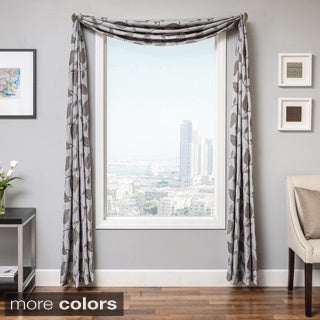 Softline Astra Faux Linen 6-yard Window Scarf - 214 x 55