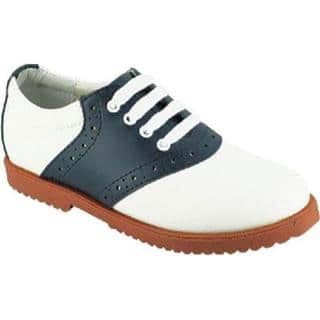 Women's Academie Gear Honor Role White/Navy Saddle Shoe|https://ak1.ostkcdn.com/images/products/9274041/P16437761.jpg?impolicy=medium