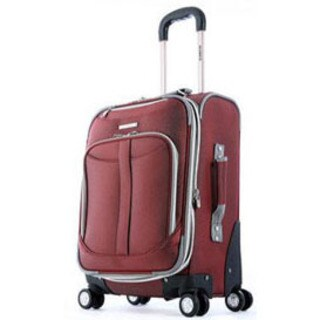 Olympia Tuscany 21in Expandable Airline Carry On Red