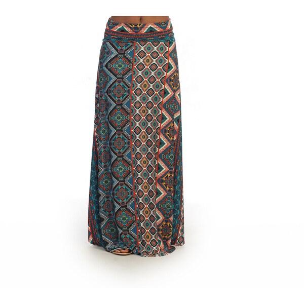 32313600d4a6c Shop Hadari Women s Geometric Maxi Skirt - Free Shipping On Orders ...