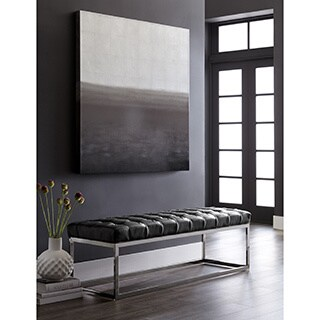 Sunpan 'Club' Sutton Tufted Leather Bench (2 options available)