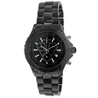 Peugeot Men's PS968 Black Ceramic Crystal Accent Chronograph Watch|https://ak1.ostkcdn.com/images/products/9275574/P16439139.jpg?impolicy=medium