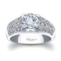 Barkev's Designer 14k White Gold 1 3/4ct TDW Diamond Engagement Ring