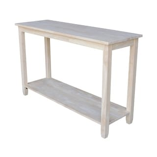 Solano Unfinished Solid Parawood Sofa/ Server Table