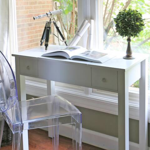 Baxton Studio Marie White Vanity Table/Dressing Table