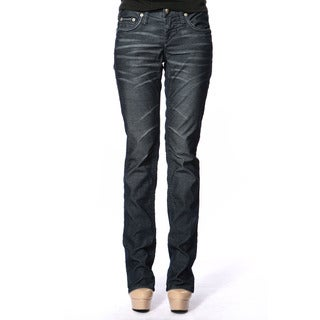 Stitch's Women's Blue Straight-leg Denim Trousers
