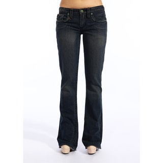 Stitch's Women's Dark Blue Denim Low Waist Boot Cut Jeans