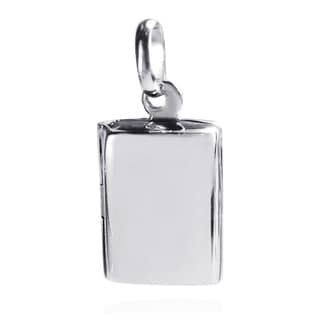 Charming Rectangle Plain Locket .925 Silver Pendant (Thailand)