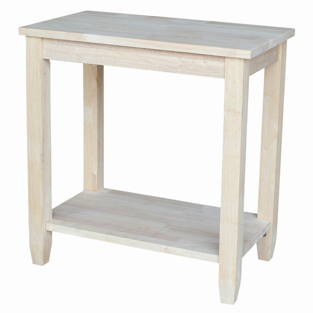 Solano Unfinished Solid Parawood Accent Table (Accent Tab...